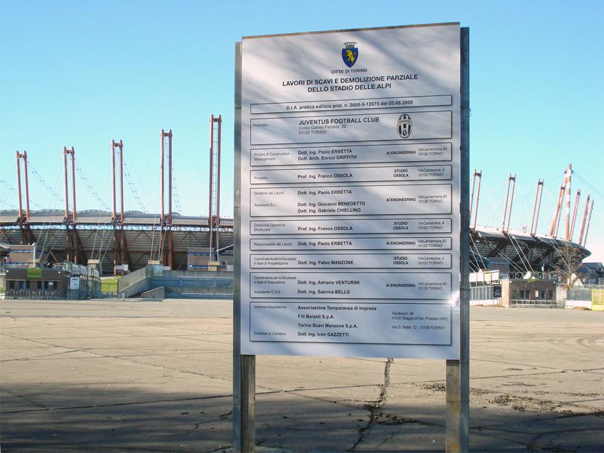 Cartello cantiere Stadio 2